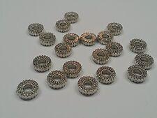 CCB Style Flat  Round Acrylic Beads, Qty 50 Platinum, 10x3.5mm, Hole: 3.5mm