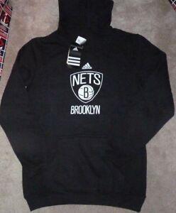 NEW ADIDAS NBA Brooklyn Nets Hoodie Hooded Sweatshirt S Small 8 Youth Boys NWT