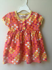 Hanna Andersson Girls 80 24 Month 2T Orange Yellow Pink Floral Play Dress Summer