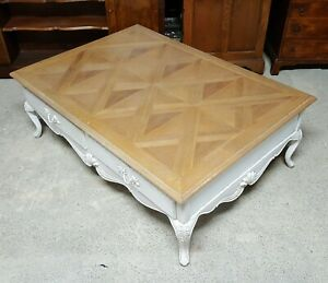 LARGE 4 DRAWER FRENCH COFFEE TABLE