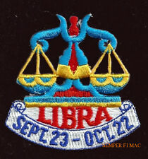LIBRA SEPTEMBER 23 OCTOBER 22 HAT VEST PATCH PIN UP GIFT QUILT BIRTHDAY Greek