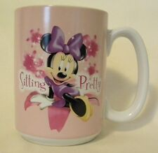 Minnie Mouse Sitting Pretty Coffee Mug Disney Store Exclusive Pink Tall