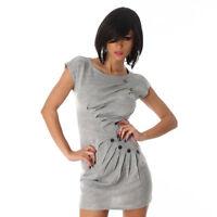 099487350c67e Abito corto donna vestito maglia lunga maxi maglia con bottoni NUOVO sexy