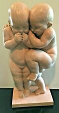 "Amie Wallach - Wallach Sons ""Sons"" Sculpture New York 1960 Twin Babies"