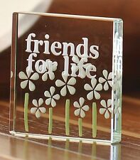 Spaceform Friends For Life Glass Token Christmas Gift Ideas Friends Her 0526
