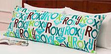 BODY PILLOW SIZE - Roxy Pacific Aqua Green White Logo Print PILLOW COVER / SHAM