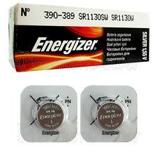 2 x Energizer Silver Oxide 390/389 batteries 1.55V SR1130SW V389 SR54 EXP:2020