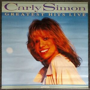 Carly Simon Greatest Hits Live 1988 PROMO POSTER