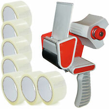 TAPE GUN DISPENSER + 60 HUGE ROLLS OF CLEAR BUFF 48MM x 66M PARCEL PACKING TAPE