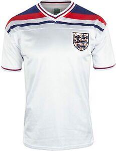 MEN'S ENGLAND 1980/1983 RETRO REPLICA HOME SOCCER FOOTBALL SHIRT JERSEY SIZE 2XL