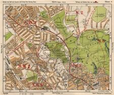 NW LONDON. Golders Green Hampstead Child's Hill Cricklewood. BACON 1933 map