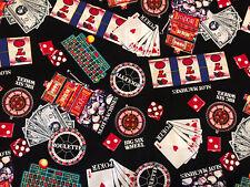 BTY Shamash Gambling Casino Slot Roulette Poker Big Six Cotton Quilting Fabric