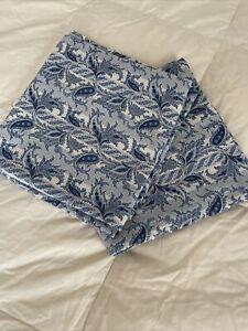 Ralph Lauren Lauren Blue Paisley Pillowcases Set Of Two King Size GUC ~