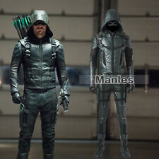 Green Arrow 5 Cosplay Oliver Queen Costume Speedy Halloween Leather Men Outfits