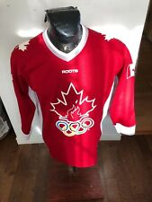 MENS  Large Roots Hockey Jersey Sydney Olympics 2000 Team Canada