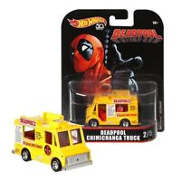 Modell DieCast 7cm DEADPOOL CHIMICHANGA Skala 1/64 Hot Wheels MARVEL FLD27