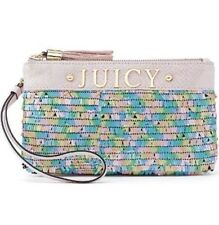 NWT Juicy Couture Sequin Handbag With Tassels Pastel Pink Candy Wristlet