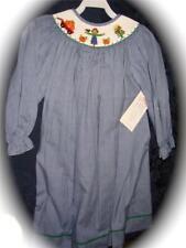 Girls Halloween Smocked LS Bishop 3T SCARECROW Harvest New Vive La Fete Pumpkin