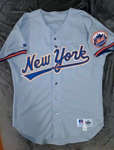 TODD HUNDLEY Russell Athletic AUTHENTIC NEW YORK METS Grey Jersey 46 1993 Gooden