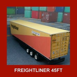 Freightliner Model Rail Freight Shipping Containers x 5 OO Gauge 1:76