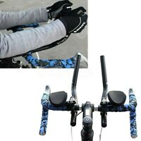 Road Mountain  Bike Bicycle  Alloy Triathlon Handlebar Hand Rest Clip On Tri Bar