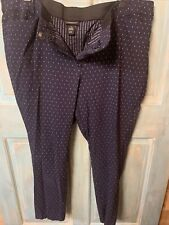$70 Lane Bryant Sexy Stretch Blue Dotted Allie Straight Pants Plus Size 24