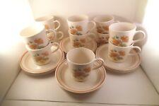 Vintage Corning Corner Stone Royal Garden Set of 11 Cups & 12 Saucers