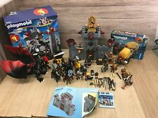 Playmobil 6697 Castle with Playmobil Knights 6005 boxed, dragons, figures