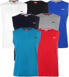 ✅ SLAZENGER Herren Sleeveless Muskel Shirt Tank Top Unterhemd Sport Muscle Hemd