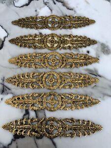 PE Guerin ANTIQUE ORNATE Empire APPLIQUE TRIM FURNITURE Gold Brass 71070 No Hole