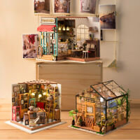 DIY Dollhouse Miniature with Light & Furniture Wooden Dollhouse Kits Gift