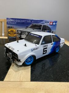 Tamiya MF-01 X Ford Escort MK2 Rally 1:10 Scale RC Car Shelf Queen Relisted