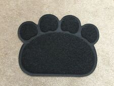 Black Paw Shaped PVC Cat Dog Mat Non-slip Pet Food Water Bowl Feeding Placemat