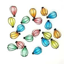 Vintage Colorful Bubble Lantern String Light Cover Replacements Set Of 20