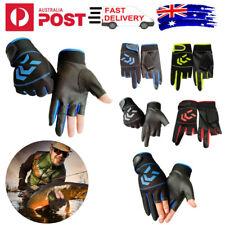 3 Fingers Cut Fishing Gloves Anti-Slip Hunting Shooting Waterproof Sport Gloves