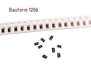50 SMD Widerstände Bauform 1206 1% 1/4W über 50 Werte wählbar 0,25W Resistor