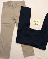 Nwot Classroom Uniform Pants Girls Navy Blue Only Sz 6, Adj Waist, 51281A (L)
