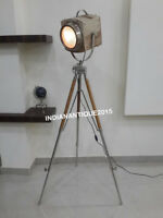 NAUTICAL NEW MODEL BEAUTIFUL FLOOR LAMP WOODEN SPOT LIGHT WITH WOODEN TRIPOD