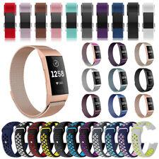 Fitbit Charge 2 3 Armband Edelstahl Ersatzband Nylon Milanese Sport Leder Watch