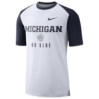 Nike Mens NCAA Dri Fit Michigan Wolverines Mantra T-Shirt Tee Large NEW $45