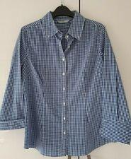 TU Sainsbury Size 14 Blue Gingham Shirt Blouse