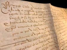LARGE ANTIQUE PARCHMENT 1581