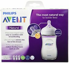 Philips AVENT Natural Baby Bottle 9 oz 3 Pack Brand New...