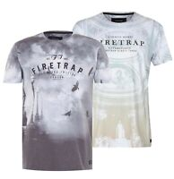 Mens Firetrap Lightweight Short Sleeves Printed Sub T Shirt Sizes from S to XXL