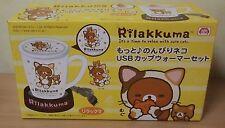 NEW Rilakkuma USB Mug Cup Warmer San-X Japan Motto Nonbiri Neko Tea Time Kawaii