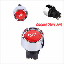 1PC Red DC12V-24V 50A Car Engine Ignition Start Push Button Switch Universal