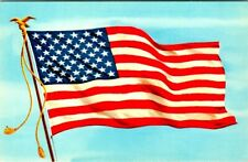 C39-3230, OLD GLORY, NATL FLAG OF USA. POSTCARD,