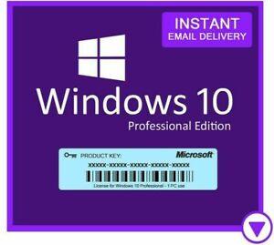 WindowⓄ 10 Pro Professional 32/64 Bit Genuine License Key