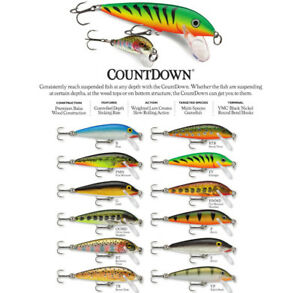 Rapala Countdown // CD05 // 5cm 5g Fishing Lures (Choice of Colors)