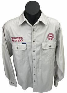 Ringers Western The Hawkeye Shirt Beige Campdraft LS Sz L